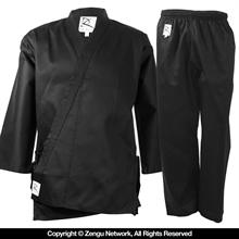 8.5 oz. Black Middleweight Karate Uniform